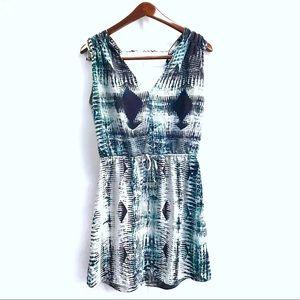 Parker 100% Silk Snakeskin Cinched Waist Dress